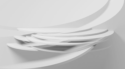 3dl background, intersected round shapes