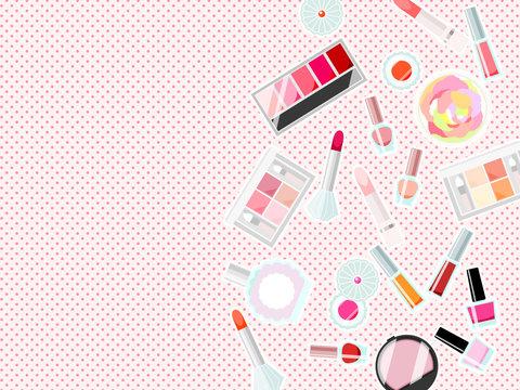 化粧品のイラスト背景