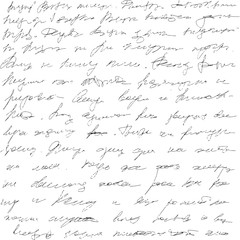 Background grunge handwriting unreadable letters.