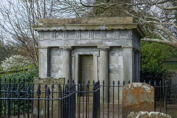 Crypt at the side of the Auld Kirk in Alloway near Ayr Scotland