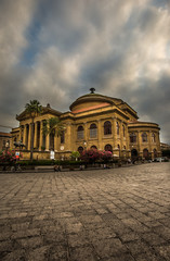A View of the Teatro Massimo in Palermo, Sicily, Italy