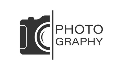 Camera device sign icon in flat style. Photography vector illustration on white isolated background. Cam equipment business concept. Wall mural