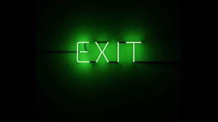 Exit neón verde. Wall mural