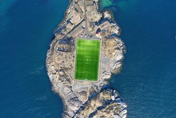 Stadion auf den Lofoten