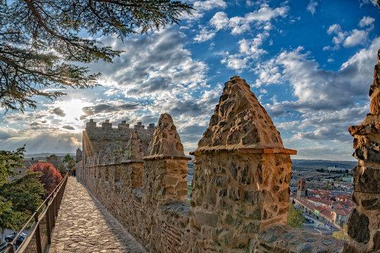 avila town spain old walls