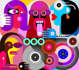 Keuken foto achterwand Abstractie Art People Use Drugs vector illustration