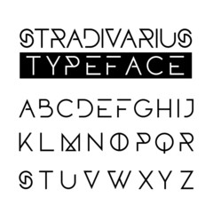 Thin sophisticated abstract font alphabet
