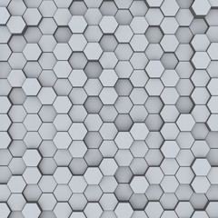 Gray hexagon honeycombs abstract background