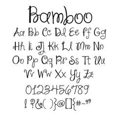 Bamboo Alphabet Font