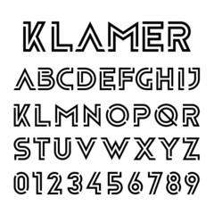 Modern technology Alphabet Font