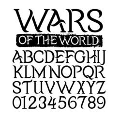 Warrior Alphabet Font
