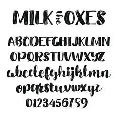 Thick Script Alphabet