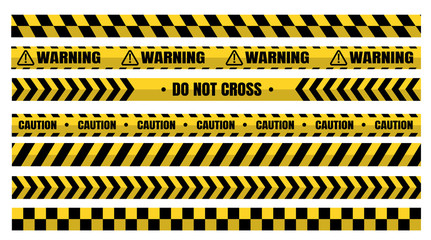 Hazardous warning tape sets must be careful for construction and crime. Wall mural