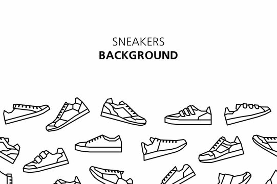 Sneakers background. isolated on white background