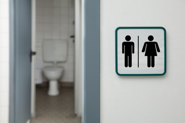 An Entrance Of Male And Female Toilet