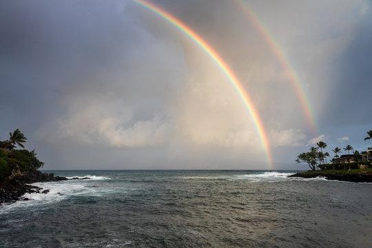Rainbow at Honokeana Bay