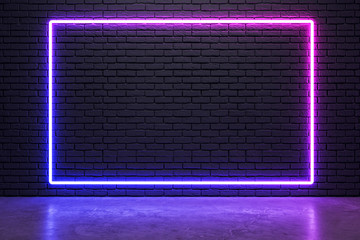 Glowing neon billboard
