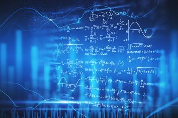 Digital mathematical formulas wallpaper
