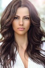 Amazing beautiful woman portrait with perfect skin
