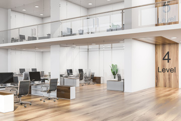 Interior of wooden floor consulting office