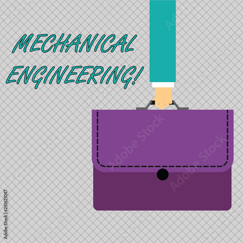 Conceptual hand writing showing Mechanical Engineering  Concept