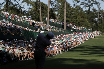 Third round play of the Masters at Augusta National
