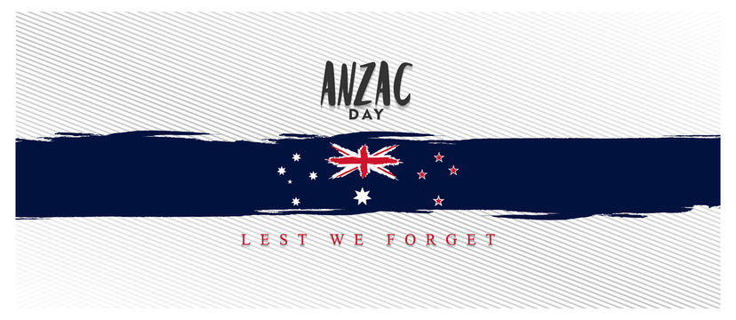 anzac day lest we forget, australia and new zealand flag