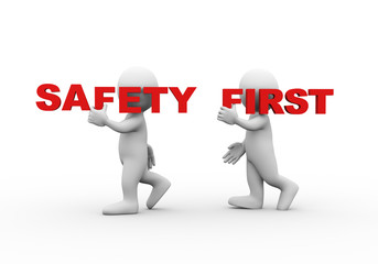3d people word text safety first