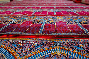 Mosque prayer carpets