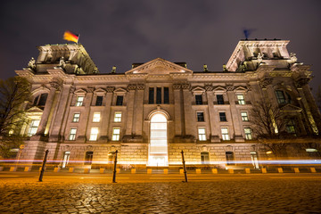 Germany, Berlin, Reichstag, Night