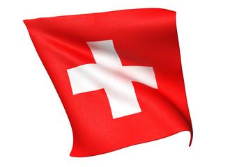 スイス国旗 比率1:1
