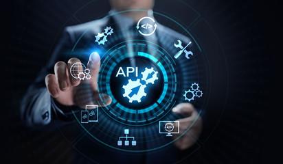 API Application Programming Interface Development technology concept.