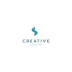 Letter S Pixel  Media Tech Creative Business Logo Design