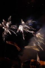 성산일출제에서 찍은 불꽃놀이 사진입니다.