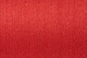 Macro picture of red thread texture background
