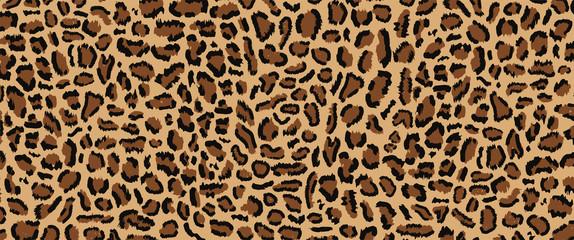 Leopard pattern design, vector illustratin, trendy background, Leopard fur pattern seamless real hairy texture. Fashion, trend 2019. Animal design. Brown, orange, yellow