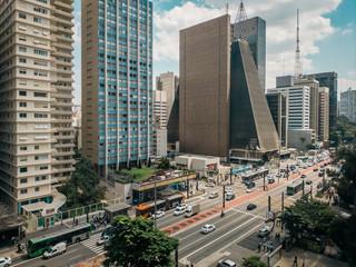 View of Paulista Avenue in São Paulo, Brazil