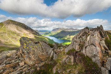 Buttermere viewed from Haystacks Lake District Cumbria