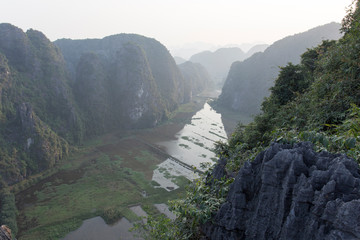 Landscape of valley in Vietnam