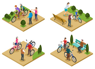 People And Bicycle 2x2 Design Concept
