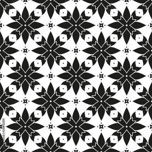 Seamless Geometric Pattern Modern Stylish Monochrome