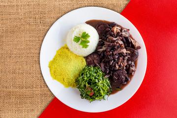 Brazilian Feijoada Food. Top view - Imagem
