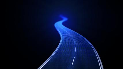 Obraz Digital road - fototapety do salonu