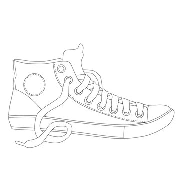 pair of sneakers coloring page for adults