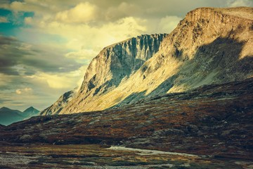 Wall Mural - Norwegian Mountains Scenery