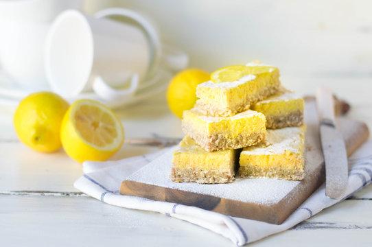 lemon bars gluten free, low calories, no sugar, no flour