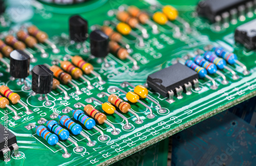 Electronic components  Integrated circuits, resistors
