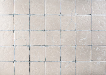 Texture of old ceramic tiles