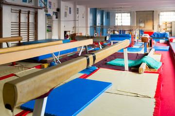 Interior of acrobatic center