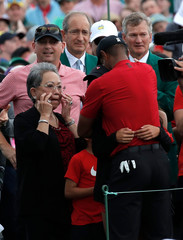 Tiger woods celebrates after winning the 2019 Masters